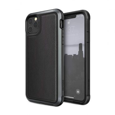 كفر X-Doria - Defense Lux Back Case for iPhone 11 Pro Max - أسود