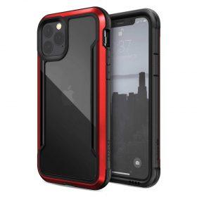 كفر X-Doria - Defense Shield iPhone 11 Pro - شفاف / أحمر