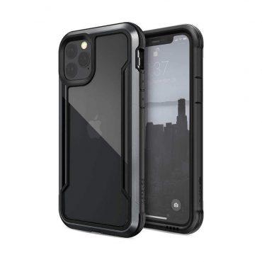 كفر X-Doria - Defense Shield iPhone 11 Pro - شفاف / أسود