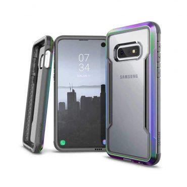 كفر X-Doria - Defense Shield Samsung Galaxy S10E - شفاف / إطار قوس قزح