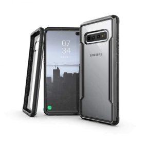 كفر X-Doria - Defense Shield Samsung Galaxy S10 Plus - شفاف / أسود
