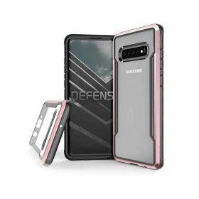 كفر X-Doria - Defense Shield Samsung Galaxy S10 - شفاف / وردي