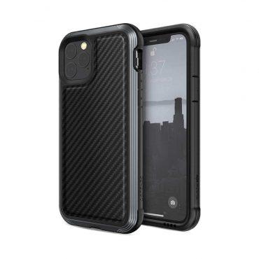كفر iPhone 11 Pro X-Doria Defense Lux - أسود كربوني