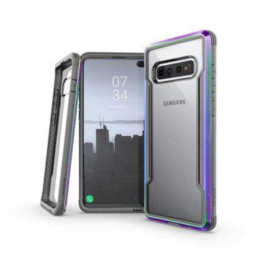 كفر Samsung Galaxy S10 Plus X-Doria Defense Shield Back Case - ألوان قوس قزح