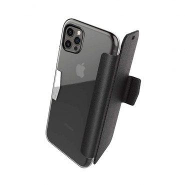 """غطاء مزدوج X-Doria Raptic Engage Folio Case for iPhone 12 / 12 Pro (6.1"""") - Black"""