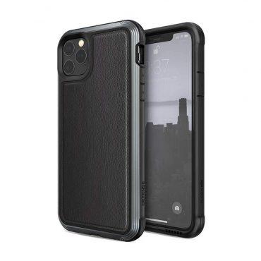 كفر X-Doria Defense Lux Back Case for iPhone 11 Pro Max - Black Leather