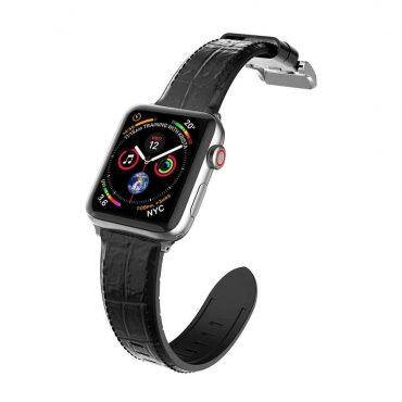 حزام ساعة X-Doria - Hybrid Leather Band for Apple Watch 42mm/44mm - أسود