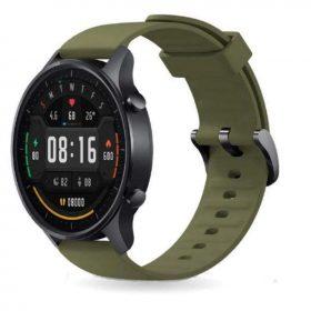 ساعة Mi Smart Watch Color باللون الأسود والفضي.